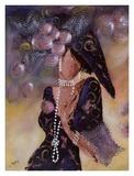 Elegantes aux Perles I Print by Johanna Braun
