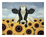 Rodeado de girasoles Lminas por Lowell Herrero