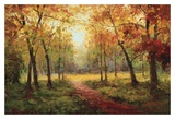 A Beautiful Walk in the Fall Print by  Weber