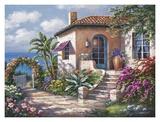 Coastal Cottage View Posters par Sung Kim
