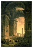 The Landscape with Obelisk Print by Hubert Robert