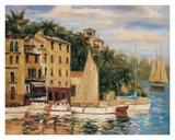 San Miguel Harbor Print by Enrique Bolo
