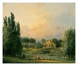 Hubert Robert - Italian Tempietto in a Park Reprodukce
