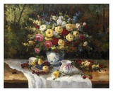 Classic Floral Still Life Print by  Janek