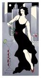 La Dame en Noire Posters by Janet Kruskamp