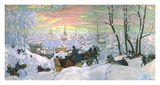 Arriving for Shrove Tide, 1916 Posters by Boris Kustodiev