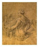 Lady with Angels Poster by  Parmigianino