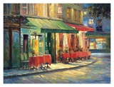 Red and Green Cafe Prints by Haixia Liu