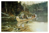 On The Flathead Posters af Charles Marion Russell