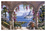Veranda mit Blumen I Poster von Sung Kim