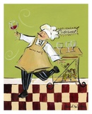 Wine Chef Cabernet Poster by Jennifer Sosik