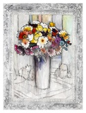 Bordered Bouquet I Prints by Hooshang Khorasani