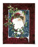 Santa&#39;s Portrait Poster by Peggy Abrams