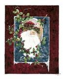 Santa's Portrait Poster by Peggy Abrams
