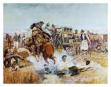 Bronc to Breakfast Art by Charles Marion Russell