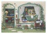Fancy Bath Shoppe Poster by Janet Kruskamp