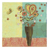 Bohemian Floral I Poster by Wendy Bentley