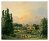 Italian Tempietto in a Park Poster by Hubert Robert