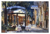 Cafe di Paris Via Veneto Prints by Alexander Sergeeff