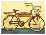 Bicycle with Basket Poster by Suzanne Etienne