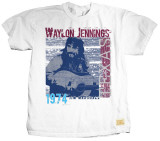 Waylon Jennings - Hanging Out T-shirts by Jim Marshall