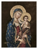 Madonna and Child Poster by Joe Ortiz
