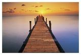 Sunset Dock Kunstdrucke von Peter Adams