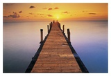 Sunset Dock Prints by Peter Adams
