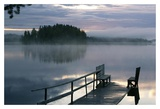 Misty Morning Dock Prints by Chuck Young