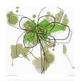 Butterfly Flower I Print by Jan Weiss