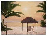 Beach Tiki Poster by Diane Romanello