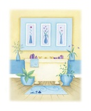 Cream Bathroom I Prints by Alexandra Burnett