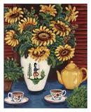Sunflower Tea Kunstdruck von Suzanne Etienne