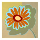 Wow Flower Orange Plakater af Monica Kuchta