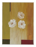 Three White Flowers II Print by Fernando Leal