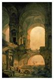 Vaulted Arches Ruin Affiches par Hubert Robert