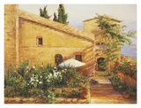 Tuscan Courtyard Posters by Kate Palmer