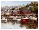 Calm on the Harbor Print by  Furtesen
