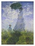 Femme à l'ombrelle Posters par Claude Monet
