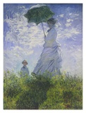 Woman With A Parasol Posters by Claude Monet