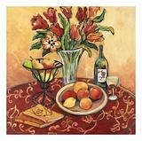 Red Flower on Still Life Plakat af Suzanne Etienne