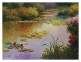 Water Lillies in Giverny Art by Karen Dupr&#233;