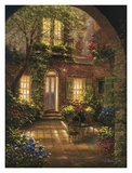 Spring Courtyard I Posters by J. Martin