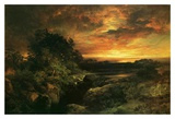 Arizona Sunset Near The Grand Canyon Prints by Thomas Moran