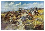 A Tight Dally and a Loose Latigo Prints by Charles Marion Russell