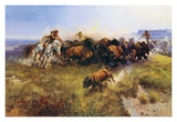Buffalo Hunt Plakater af Charles Marion Russell