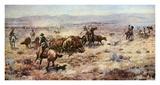Alte Cowboy, Der Poster von Charles Marion Russell
