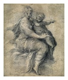 Madonna and Child on the Clouds Print by  Parmigianino