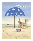 Sandcastles by the Sea Poster by Katharine Gracey
