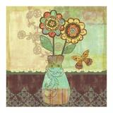 Bohemian Floral II Print by Wendy Bentley